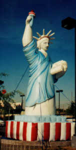25 ft tall Statue of Liberty replica cold-air advertising inflatable