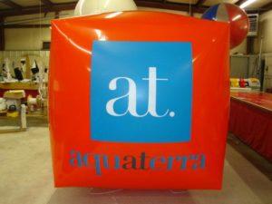 custom cube shape balloons in Minneapolis